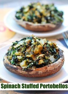 recipes healthy Stuffed Portobello Mushrooms Stuffed portobello mushrooms are delicious (champignons portobello farcis aux épinards (oignons parmesan) Healthy Food Blogs, Whole Food Recipes, Healthy Snacks, Healthy Eating, Cooking Recipes, Healthy Recipes, Fall Recipes, Healthy Mushroom Recipes, Delicious Recipes