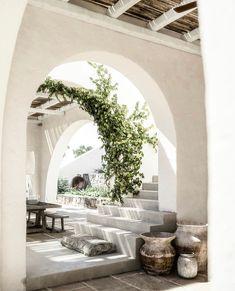 Mea Terra on Behance Exterior Design, Interior And Exterior, The Beach People, Mediterranean Decor, Mediterranean Architecture, Natural Interior, Studio, My Dream Home, Interior Inspiration