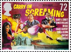 Royal Mail Special Stamps | Classic Carry On and Hammer Films Carry on Screaming