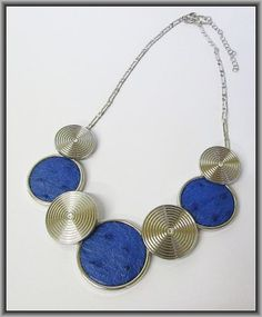 Ostrich Leather necklaces - Victoria Blue ON3R4 Leather Necklace, Victoria, Necklaces, Blue, Leather Collar, Collar Necklace, Wedding Necklaces, Leather Chain