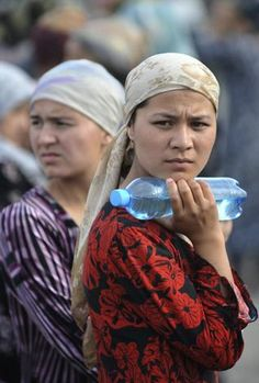 Uzbek refugees who fled from Kyrgyzstan. (Let's do what we can to help all the displaced peoples of the world!)