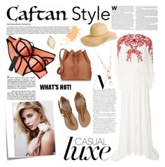 """Cool Caftan Style"" by anacarolinaferraz ❤ liked on Polyvore featuring Post-It, Triangl, Monique Lhuillier, Billabong, David & Young, Sophie Hulme, HEATHER BENJAMIN, Maison Margiela and caftanstyle"