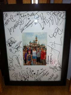 Loved this idea!  I took a photo mat to Disneyland for the characters to sign instead of an autograph book. Remember to bring cardboard to store the mat in so it doesn't get too wrinkled while its in your backpack!