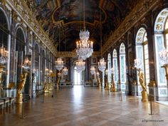Versaillies, hall of mirrors, FR | The Hall of Mirrors at the Palace of Versailles | Pilgrimito