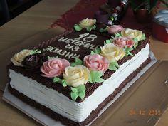 Buttercream Birthday Cake, Birthday Sheet Cakes, Cake Icing, Cupcake Cakes, Cupcakes, Cake Decorating Techniques, Cake Decorating Tips, Russian Cake Tips, Cakes Without Fondant