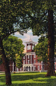 Vintage Postcard Center Hall Wabash College by TBTooVintagePhotos