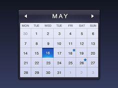 Dribbble - Calendar by Aric