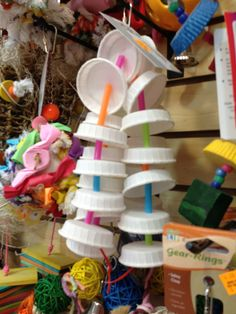 sample cups and straws