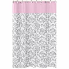 pink grey shower curtain. Sweet JoJo Designs Elizabeth Grey  Pink Shower Curtain Gigi Floral Shower Curtains Guest Bath And