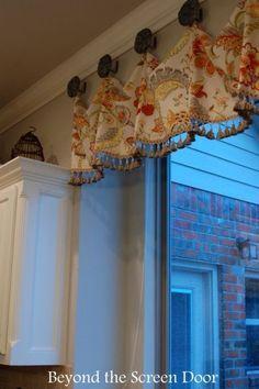 A Valance To Bring Color To A Gray U0026 White Kitchen   Sonya Hamilton Designs