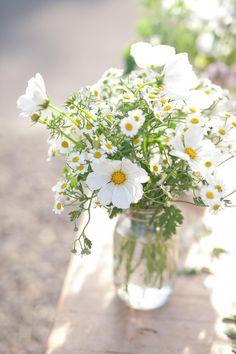 Flower Arrangements Simple, Simple Flowers, Beautiful Flowers, Daisy Wedding Arrangements, Flowers In Jars, Deco Floral, Flower Aesthetic, Planting Flowers, Wedding Decorations
