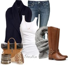 """navy cardigan"" by stacy-gustin on Polyvore"