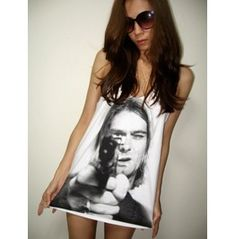 Kurt Cobain Nirvana Grunge Rock Alternative Tank Top