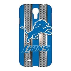 Detroit Lions Style Metal Samsung Galaxy S4 S IV Hardshell Case Cover