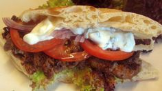 mediterrean recipes with photos   Mediterranean Lamb Burgers recipe and ingredients