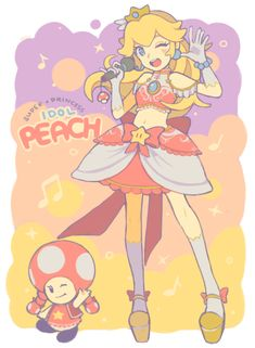 "chereshi: "" princess peach idol rhythm game when???? """