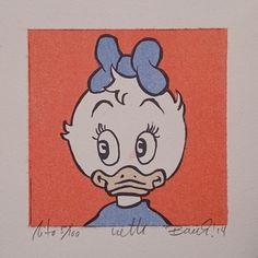 """Lithography """"Portrett av Netti"""". 10x10 cm. Artist: Ronny Bank. Want it? Go to http://artbyhand.no/produkt/billedkunst/portrett-av-netti"""
