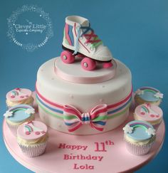 Roller Boot Cake by The Clever Little Cupcake Company