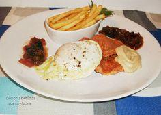Cinco sentidos na cozinha: Bifanas à antiga com ovo estrelado e batata frita