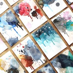 Monthly Art Challenge / November I'm so surprised that some of my favorite mini originals haven't fo Watercolor And Ink, Watercolor Paintings, Art Paintings, Abstract Watercolor Tutorial, Watercolours, Doodle Art, Alcohol Ink Art, Art Challenge, Monthly Challenge