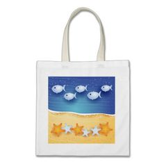 Beach background, #bag by PinkHurricane #Zazzle store :)