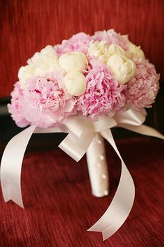 Diana& bouquet is gorgeous.cream and pink peonies.the pink ones remind me of cotton candy.so fluffy! Floral Wedding, Wedding Bouquets, Wedding Flowers, Flower Bouquets, Pink Peonies, Pink Flowers, Wedding Album, Wedding Planner, Tulips