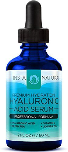Hyaluronic Acid Serum - BEST Anti-Aging Skin Care Product for Face With Vitamin C Serum, Vitamin E & Green Tea - Reduces Wrinkles, Fine Lines, & More - For Youthful & Radiant Skin - InstaNatural - 2OZ