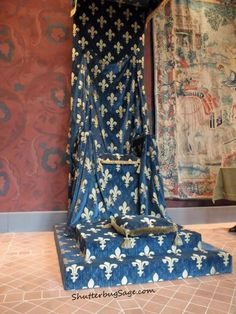 Throne in the State Room at the Chateau de Blois, Loire Valley, France