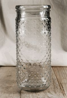 Hobnail Jar Candle Holder 9-1/4in (Save 50%) - Or maybe these for aisle flowers
