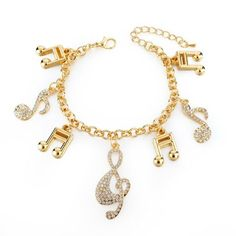 "Fashionable, trendy, and cute collection of beautiful charms that add a feminine touch to the bracelet. Pick your theme and add a bold statement to any casual ensemble. Each bracelet features charms in a theme that fits your personality best. Some charms are detailed in Austrian crystals with an easy to close lobster clasp.    Material: Gold Plated, Austrian Crystals    Chain Length: 7.6"" - 2"" extension    Clasp Type: Lobster  <span style=""color: #f2f2f4;"">Gold ..."