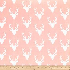 Art Gallery Hello Bear Buck Forest Light Pink from @fabricdotcom  Designed by Bonnie Christine for Art Gallery Fabrics, this cotton print fabric allows you to folic in the woods with bucks. Perfect for quilting, apparel and home decor accents. Colors include pink and white.