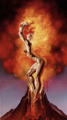 Julie Bell & Boris Vallejo mistress of fire