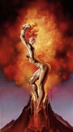 Julie Bell & Boris Vallejo mistress of fire