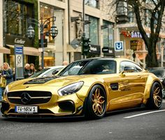 413 個讚,3 則留言 - Instagram 上的 Exotic Cars & Supercars(@exotic_performance):「 Golden Widebody AMG GT-S Check Out 💰 @wolf_millionaire 💰for our GUIDES To GROW Followers & Make… 」