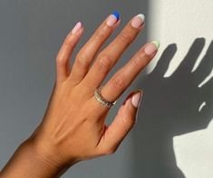 Colored French Nails, French Tip Acrylic Nails, Best Acrylic Nails, Funky Nails, Dope Nails, Trendy Nails, Swag Nails, Minimalist Nails, Nagel Gel