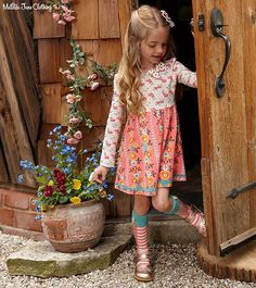 ring of flowers dress and grimms knee socks; low in inventory. If you don't already have a trunk keeper to order, send wishlist to me, TK#1700, marybarnes@matildajaneclothing.com