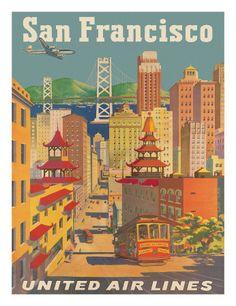 Vintage travel theme