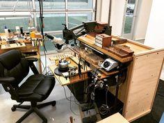 Shop Organisation, Workbench Ideas, Jewellers Bench, Desk, Table, Furniture, Instagram, Home Decor, Garage Workshop