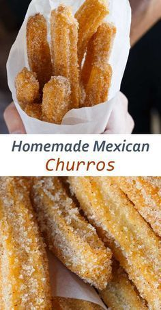 Homemade Mexican Churros – An Authentic Mexican Churro Recipe 44 Unbelievable Churro Recipes — Tasty & Delicious Mini Desserts, Easy Desserts, Mexican Dessert Recipes, Mexican Dishes, Easy Mexican Food Recipes, Best Food Recipes, Simple Food Recipes, Dinner Recipes, Best Churros Recipe
