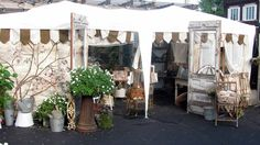 beautiful flea market booth
