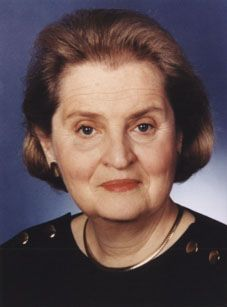On January 22nd. 1997 Madeline Albright was confirmed as the first female secretary of state.