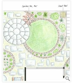 Creative, innovative garden design in Exeter, Devon. Circular Garden Design, Circular Lawn, Garden Design Plans, Home Garden Design, Garden Landscape Design, Small Garden Design, Green Man, Back Garden Landscaping, Exterior Wall Cladding