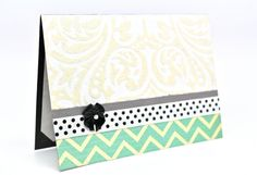 Elegant Greeting Card Chevron Greeting Blank by AmeliaRyCreations