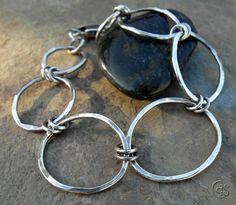 Silver Bracelet Handmade Chain Bracelet by ArtandSoulJewelry
