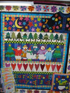 Row quilt/ this would be cute as a end of bed coverlet-Snowmen & starts or Trees! Description from pinterest.com. I searched for this on bing.com/images