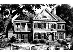 Colonial House Plan with 2552 Square Feet and 4 Bedrooms from Dream Home Source | House Plan Code DHSW56079