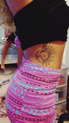 sun and moon tattoo idea #ink #girly