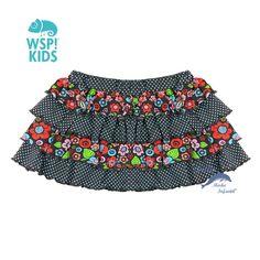 1df53c063b Falda de niña WSPKIDS volantes flores y topos