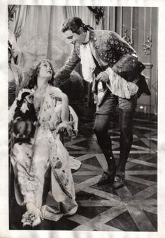 """Dolores Costello, Clementine the monkey, and John Barrymore in  """"When A Man Loves"""" - (1927)"""