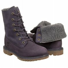 Timberland Women's Waterproof Suede/Fleece Boot in both lavender and deep, dark purple at amazon.com - want for next Habitat build.
